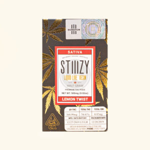 Buy Lemon Twist Liquid Live Resin Half Gram by Stiiizy Cannabis Online for sale at Stashclub the best marijuana weed dispensary in United States